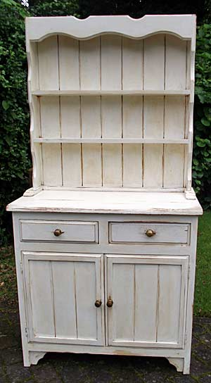 A shabby chic finish dresser
