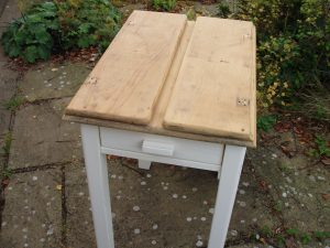 A shabby chic painted table