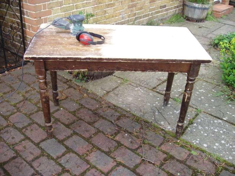 Desk awaiting its shabby chic treatment