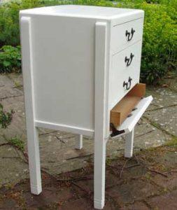 Shabby-chic music cabinet