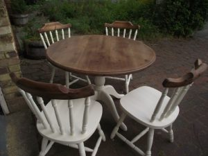 Shabby Chic Chairs and Table
