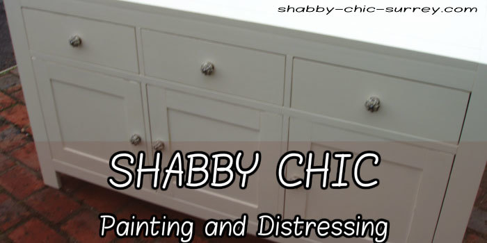 Shabby chic painting and distressing
